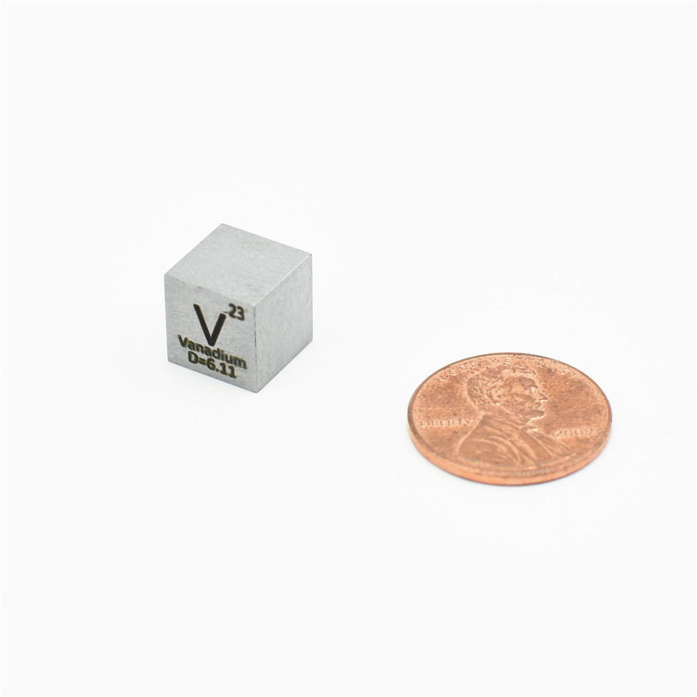 High Purity Vanadium V  Cube Metal 10x10x10mm For Research And Development Element Metal Simple Substance