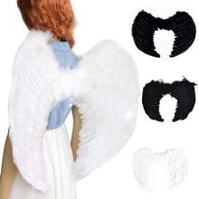 Перо, сказочный ангел, для взрослых и детей, белые, черные крылья, девичья ночь, нарядное платье, костюм на Хэллоуин, вечерние принадлежности для мероприятий, украшения