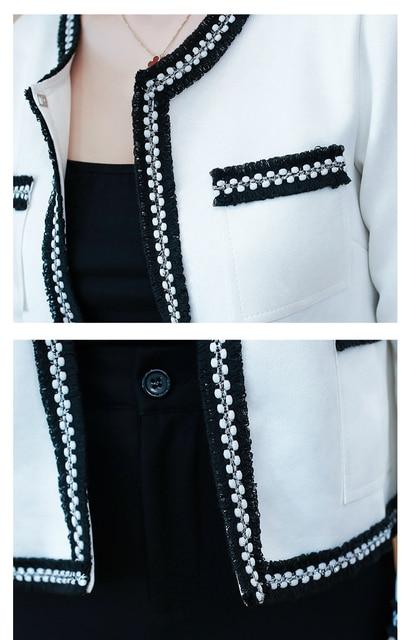 Women's Jackets 2021 Fashion  Autumn Jacket Women Long Sleeve White Coat Women Jacekts Coats And Jackets Women B888 6