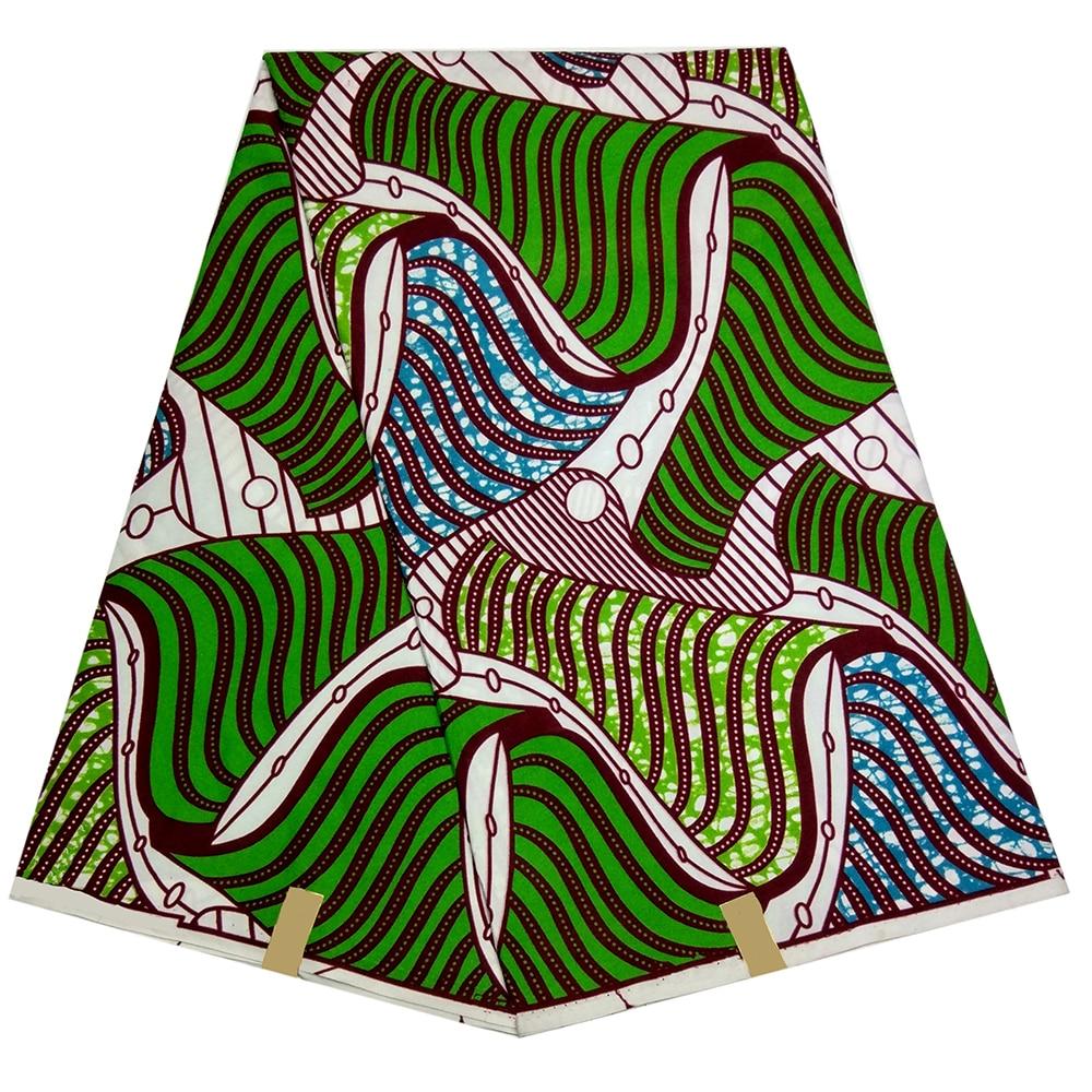 2019 Ankara Veritable Wax African Veritable Real Dutch Wax African Print Fabric 6Yards\lot