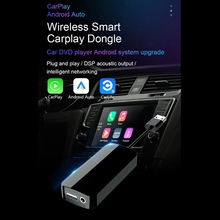 Autoradios CarPlay Box commande vocale sans fil bluetooth lien intelligent USB Dongle avec entrée micro lecteur multimédia de Navigation de voiture