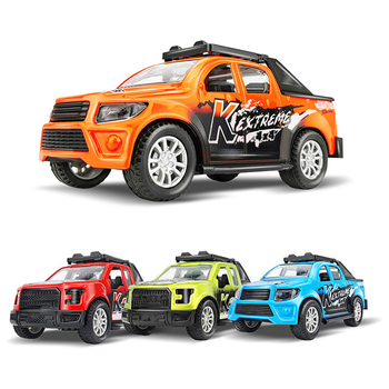 Pickups Truck Model 1:43 Scale Pull Back Alloy Diecast Off-road Vehicle Collectible Toy Car For Boy Children Christmas Gift S031 image