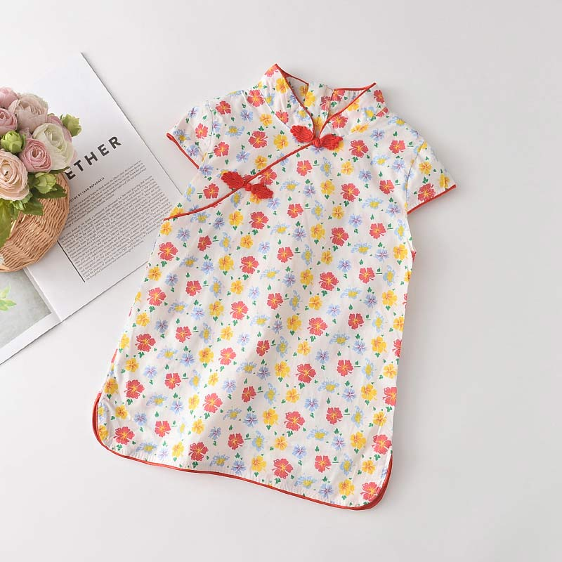 Bear Leader Girls Casual Dresses 2021 New Fashion Kids Chinese Style Clothes Baby Girl Party Outfits Flowers Clothing 2 8 Years 4