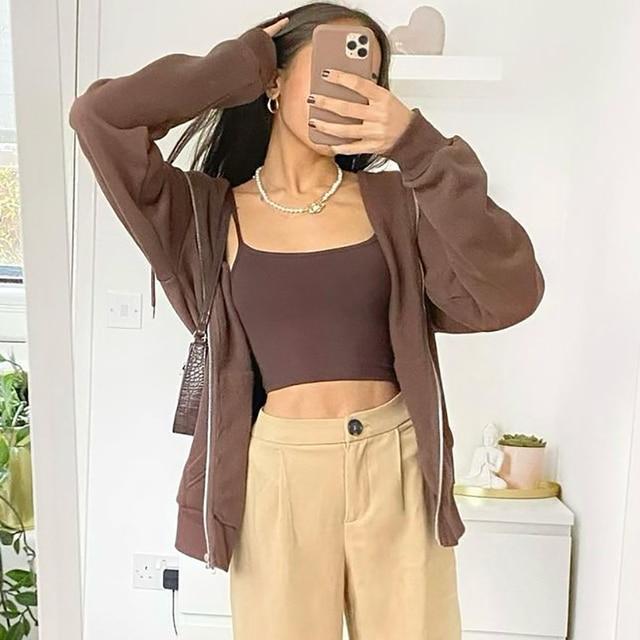 Oversize Girls Thick Hoodies 2021 Spring Fashion Ladies Streetwear Fleece Outfits Y2K Boyfriend Loose Hoodies Unisex Women Chic 3