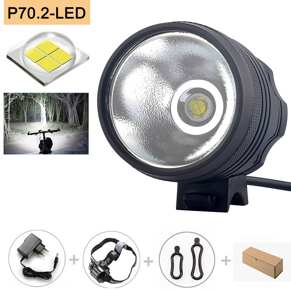 New  XHP70 6800 Lumen 4*P70 LEDs Bicycle Lamp Front Headlight Riding Cycling Bike Front Light For Outdoor Night Riding Camping