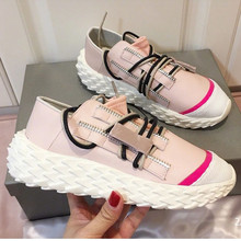 Women genuine Leather Shoes Breathable Sneakers Wom