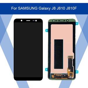Image 1 - Para SAMSUNG Galaxy J8 J810 J810F pantalla LCD AMOLED pantalla + Panel táctil digitalizador montaje para SAMSUNG pantalla Original