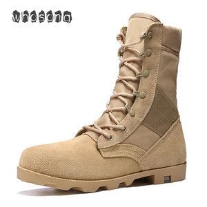 Image 1 - 2019 Ultralight Mannen Leger Laarzen Militaire Schoenen Combat Tactical Enkellaarsjes Voor Mannen Desert/Jungle Laarzen Outdoor Schoenen Maat 39 46