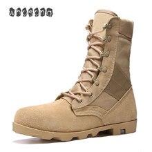 Bottines militaires ultra légères pour hommes, chaussures militaires tactiques de Combat pour hommes, bottes de désert/Jungle, chaussures dextérieur, tailles 39 46, collection 2019