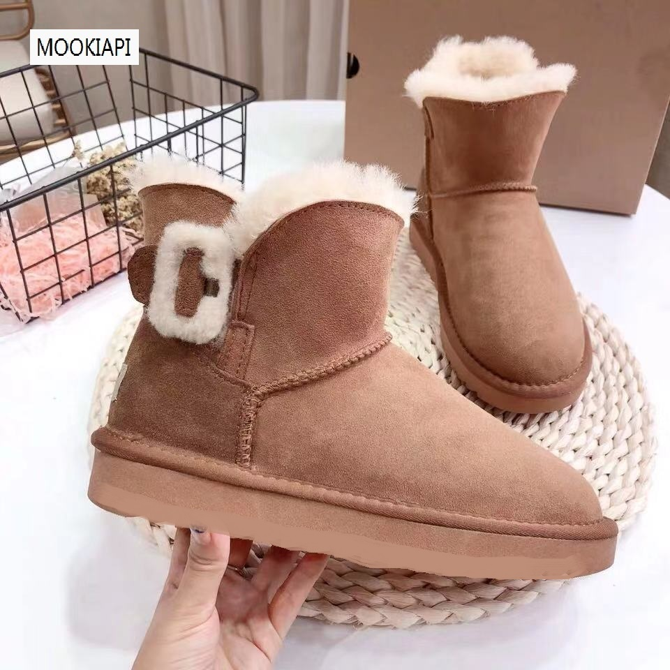 Australia's latest high-quality women's shoes in 2019, real sheepskin, natural wool, new buckled women's snow boots
