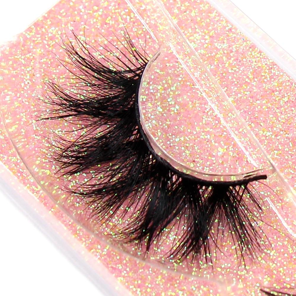 FOXESJI Makeup Eyelashes 3D Mink Lashes Fluffy Soft Wispy Volume Natural long Cross False Eyelashes Eye