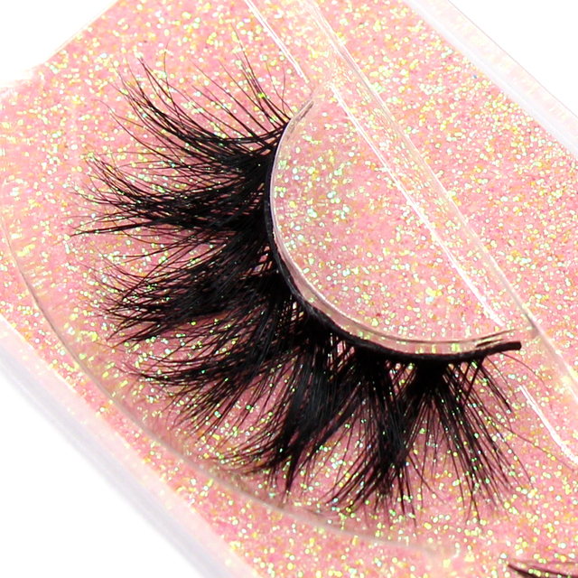 FOXESJI Makeup Eyelashes 3D Mink Lashes Fluffy Soft Wispy Volume Natural long Cross False Eyelashes Eye Lashes Reusable Eyelash 2
