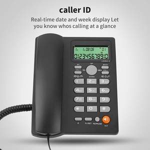 Image 5 - เดสก์ท็อปCordedโทรศัพท์จอแสดงผลCaller ID,สายโทรศัพท์พื้นฐานโทรศัพท์สำหรับHome/โรงแรม/สำนักงาน,ปรับVolume, Real Timeวันที่W