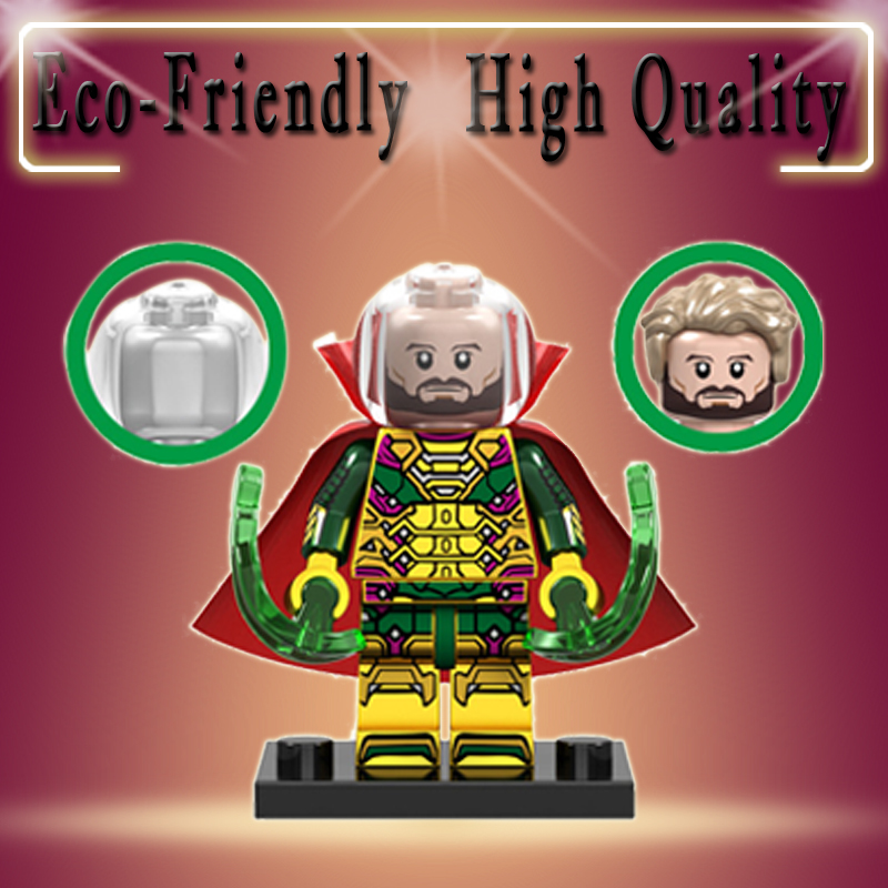 Mysterio Super Heroes New Spider Man Far From Home Hydro-man Legoed Minifigured Building Blocks  Model Bricks Toys Child Gifts