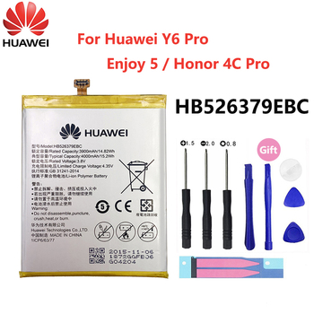 100% Original HB526379EBC phone battery For Huawei Y6 Pro Enjoy 5 Honor 4C Pro TIT-L01 TIT-TL00 -CL00 TIT-CL10 4000mAh Batterie цена 2017