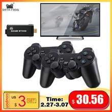 DATA FROG – Console de jeu vidéo HD 4K, 2.4 go, Double contrôleur sans fil pour PS1/GBA Classic Retro TV, 64 go, 10000 jeux