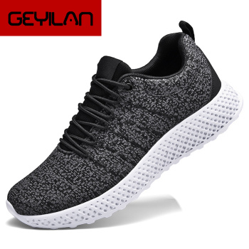 Flying Weaving Shoes Men Comfortable Shoes sneaker Canvas Air breathable Run Shoes Fashion celebrity Thick bottom Casual Shoes