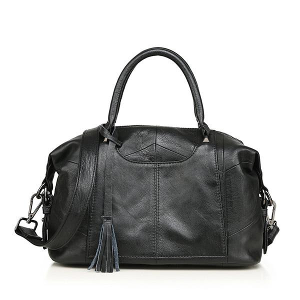Women Genuine Leather Handbag Female Real Cow Leather Tote Bag Ladies Large Capacity Shoulder Bag Crossbody Bags For Women