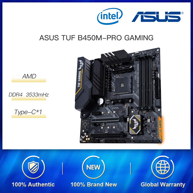 <font><b>ASUS</b></font> Motherboard TUF <font><b>B450m</b></font>-Pro <font><b>GAMING</b></font> MATX Motherboard Supports CPU 3700X/3600X/3600/2600(AMD B450/ Socket AM4) image