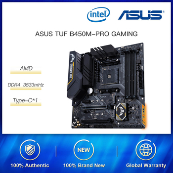 ASUS Motherboard TUF B450m-Pro GAMING MATX Motherboard Supports CPU 3700X/3600X/3600/2600(AMD B450/ Socket AM4) image
