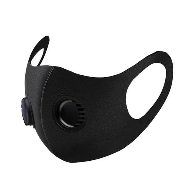 Masks Black Cotton Mouth Face Mask with Activated Carbon Filter Windproof Mouth-muffle for Men Women Black Fashion Riding Mask 3