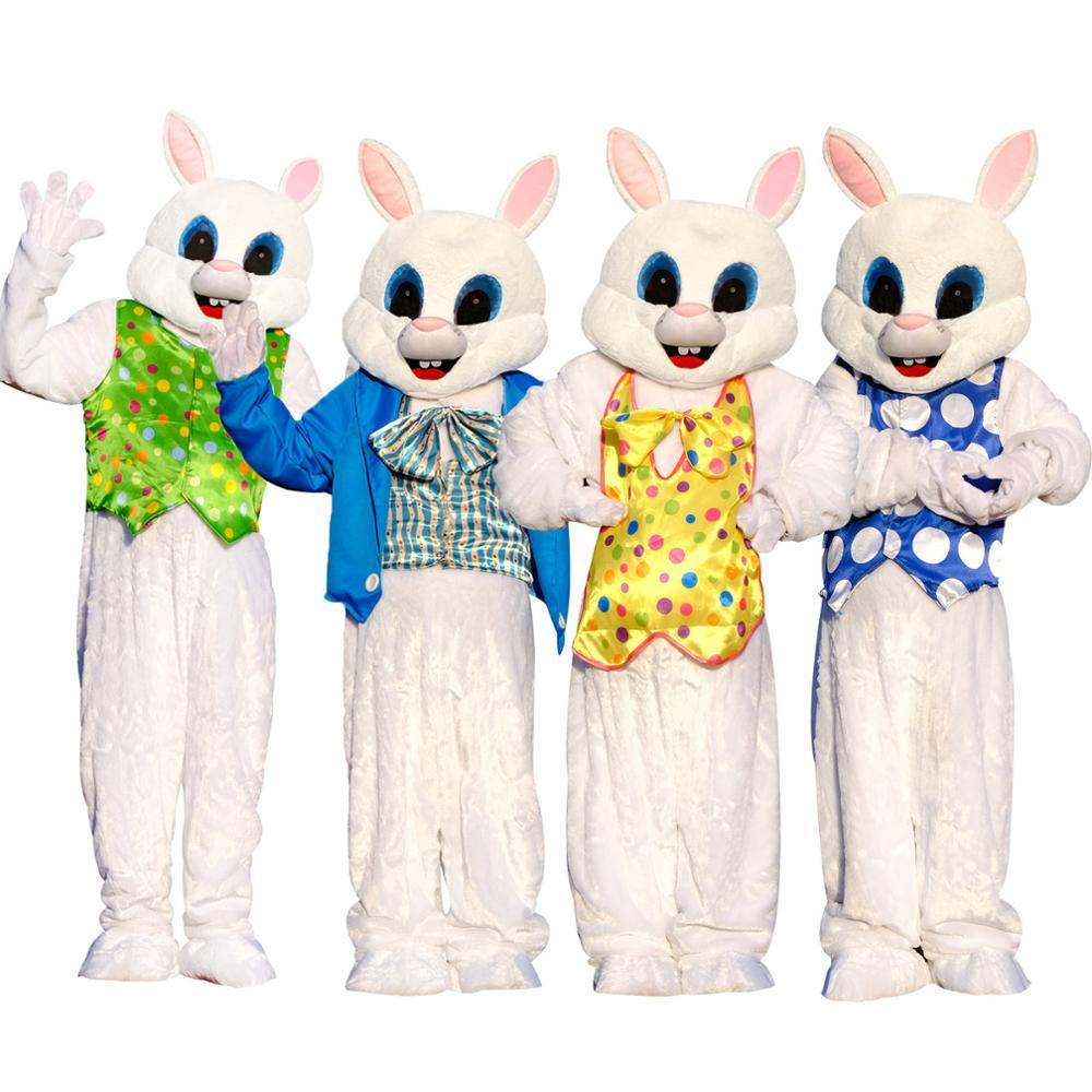 2019 Hot Adults Easter NEW Mascot Costume Cartoon Rabbit Cosplay Fancy Dress