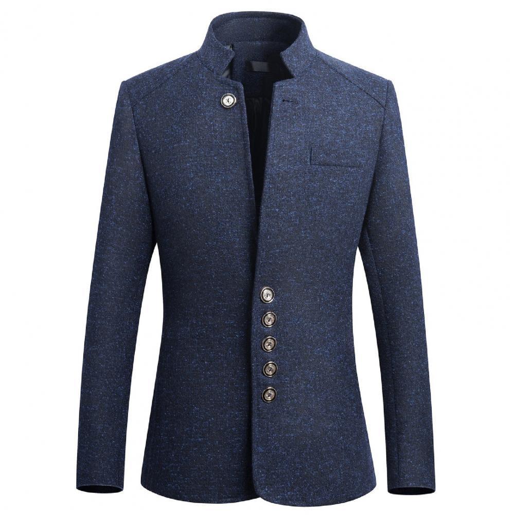 Mens 2021 Spring Men Blazer Smart Casual Jacket Solid Black Cotton Business Suit Jackets Male Coat for Business 5XL