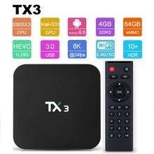 Android 9.0 Smart TV BOX Tanix TX3 Amlogic S905X3 8K Set Top