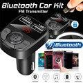 Новинка автомобильное зарядное устройство 3,1 а Bluetooth FM-передатчик FM MP3-плееры модулятор гарнитура двойное зарядное устройство USB A27 для телеф...
