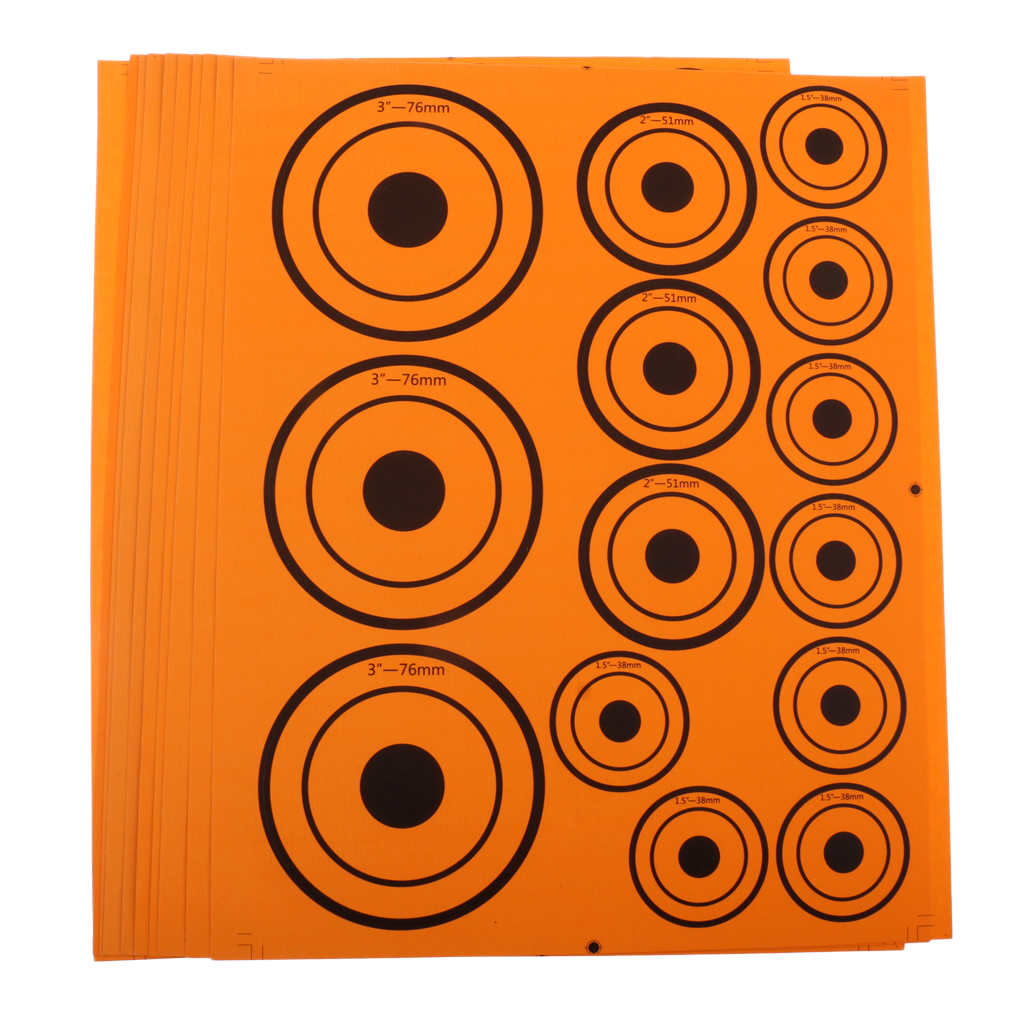 10 Sheet Paper Targets Self-adhesive Target Stickers For Shooting Hunting