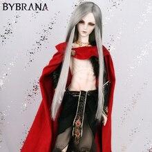 Bybrana Peluca de pelo largo y liso para muñeca, color negro, alta temperatura, MSD, SD, Yosd, 1/3, 1/4, 1/6, 1/8
