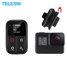TELESIN 80M Wifi Control Remote for Gopro Hero Black 7 6 5 3 3+ 4 Session Self-luminous OLED Screen Set and Shortcut Key