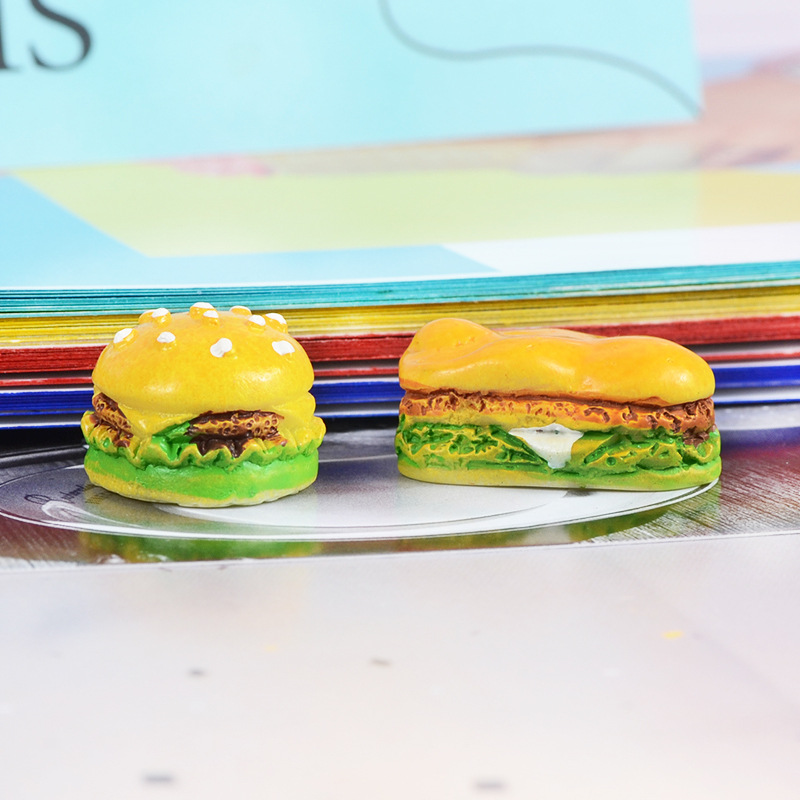 Resin Flatback Kawaii Simulation Food Hamburger For Filler DIY Cake Ornament Scrapbooking Decoration