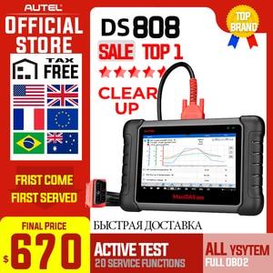 Image 1 - Autel MAXIDAS DS808 skaner OBD2 OBDII OBD 2 samochodowe samochodowe narzędzie do skanowania diagnostycznego TPMS programowanie klucz programujący Maxisys MS906