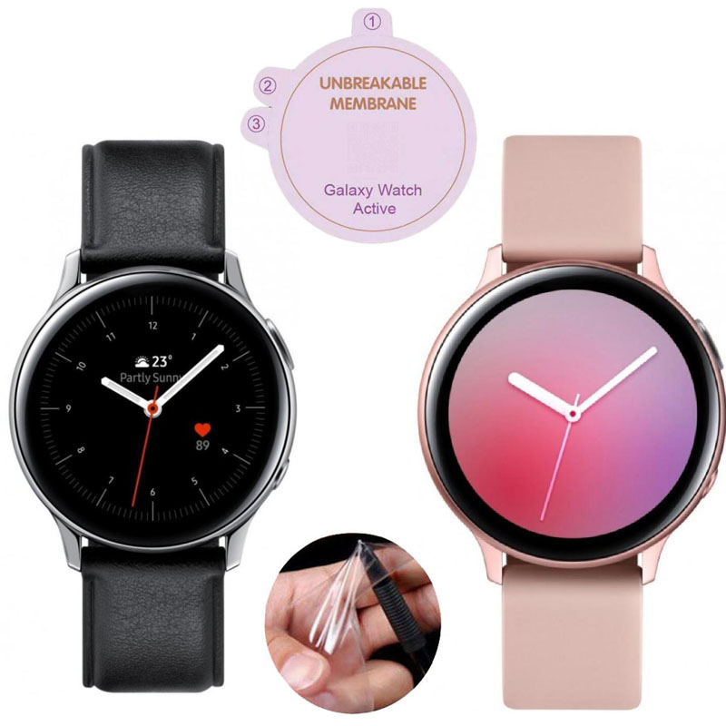 Hydrogel Soft Protective Film Guard For Samsung Galaxy Watch Active 2 40mm/44mm Active2 SmartWatch Screen Protector Full Cover