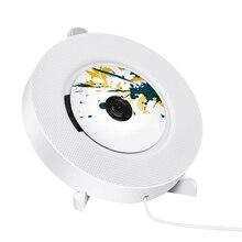 Портативный CD-плеер с Bluetooth, настенный CD-плеер с пультом дистанционного управления для дома встроенные HiFi колонки с наушниками J