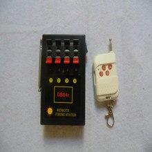 Nuevo estilo 4 cubos receptor remoto etapa de alambre eléctrico fuegos artificiales etapa interruptor inteligente equipo de boda