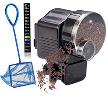 Automatic Fish Feeder Aquarium Food Vacation Auto Feeding Unit + Net For Tank, Thermostat And Jelly