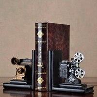 Kamera retro Bookend projektor filmowy czarny srebrny projekt kolekcjonerski kreatywny regał Vintage biżuteria gabinet studium Ho w Dekoracyjne gobeliny od Dom i ogród na