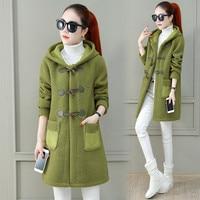2020 New Long Sweatshirts Women Autumn Winter Plus Velvet Warm Jackets fashion Casual Loose Coat Womens Clothing N1183