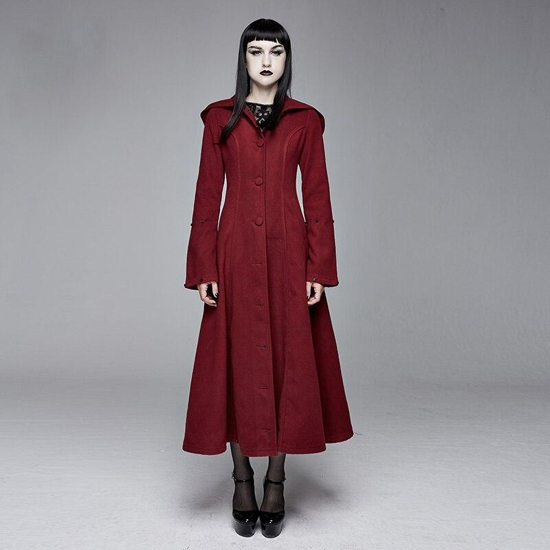 Teufel Retro Rot Damen Feder Warme Wolle Mantel Tasche Partei Langen Mantel Warme Winter Mantel Frauen - 6