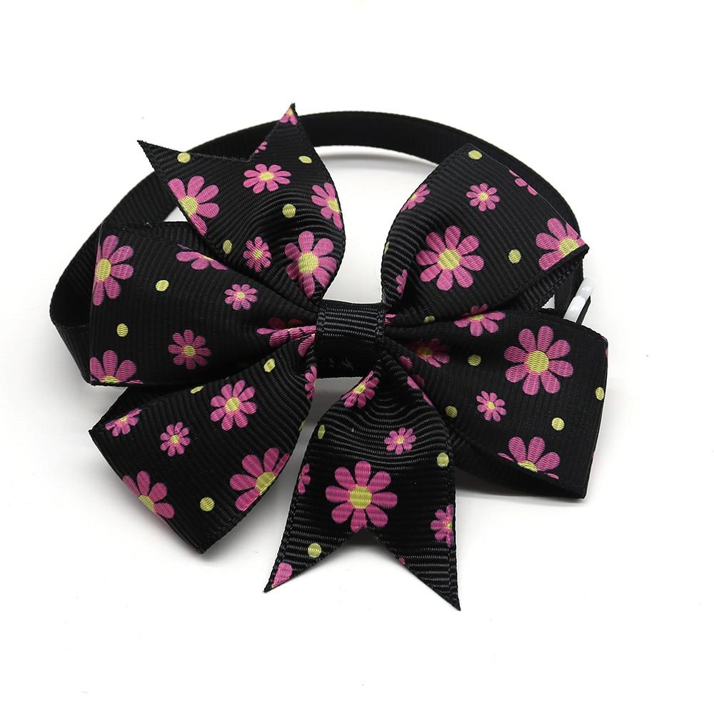 flor bowknot do gato do cão bowtie