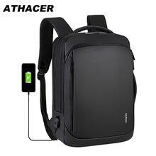 Wielofunkcyjny plecak na laptopa dla mężczyzn torba antykradzieżowa USB do ładowania o dużej pojemności odporny na zużycie plecak podróżny Business School