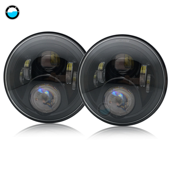 2PCS Auto Accessory 7 Inch 60w LED Headlight with high low beam H4 H13 Headlamp for JKUR-Jeep Wrangler JK Unlimited Rubicon.