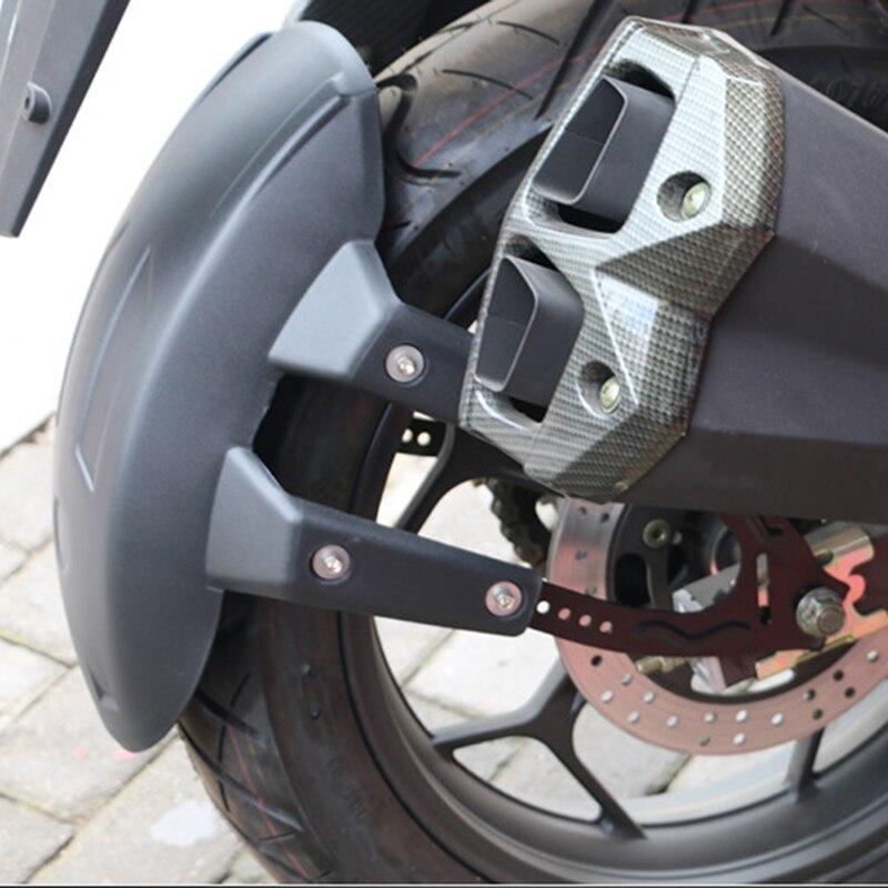 Universal Black Plastic Motorcycle Rear Wheel For Fender Splash Guard Rear Wheel Cover Guard Mudguard W/Bracket Accessories