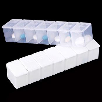 Pojemnik na tabletki w podróży uchwyt skrzynki tygodniowy pojemnik do przechowywania medycyny pojemnik na leki dozownik na tabletki niezależne kraty plastikowe opakowanie na leki tanie i dobre opinie KuZHEN high quality plastic 1 * Pill Box