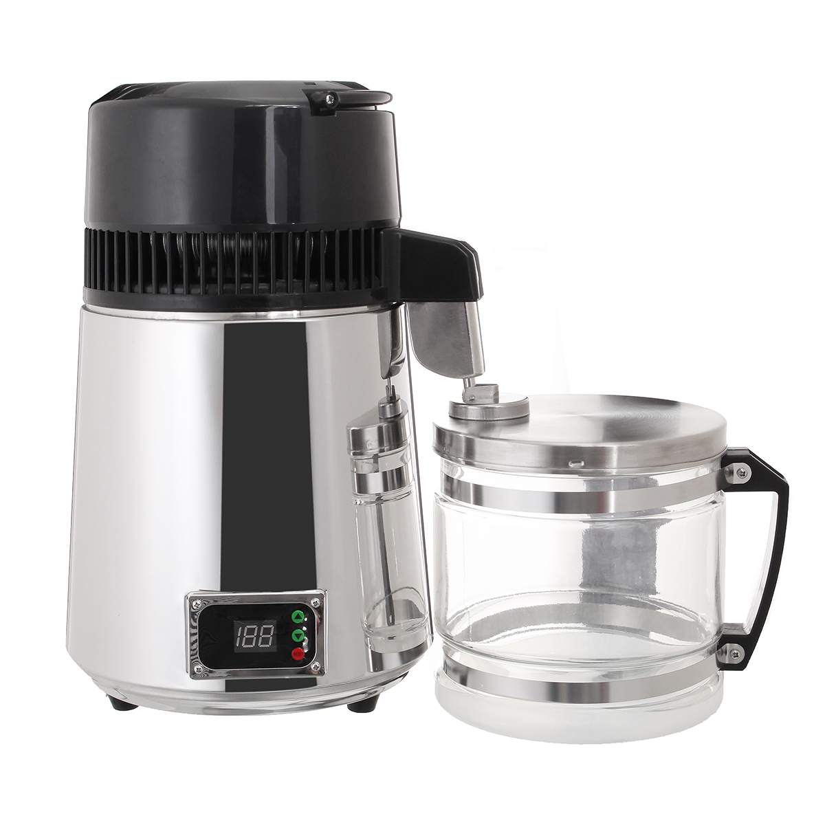 4L Water Filters Distiller 304 Stainless Steel Electric Pure Purifier Filter LED Display Water Machine For Dental/Medical/Home