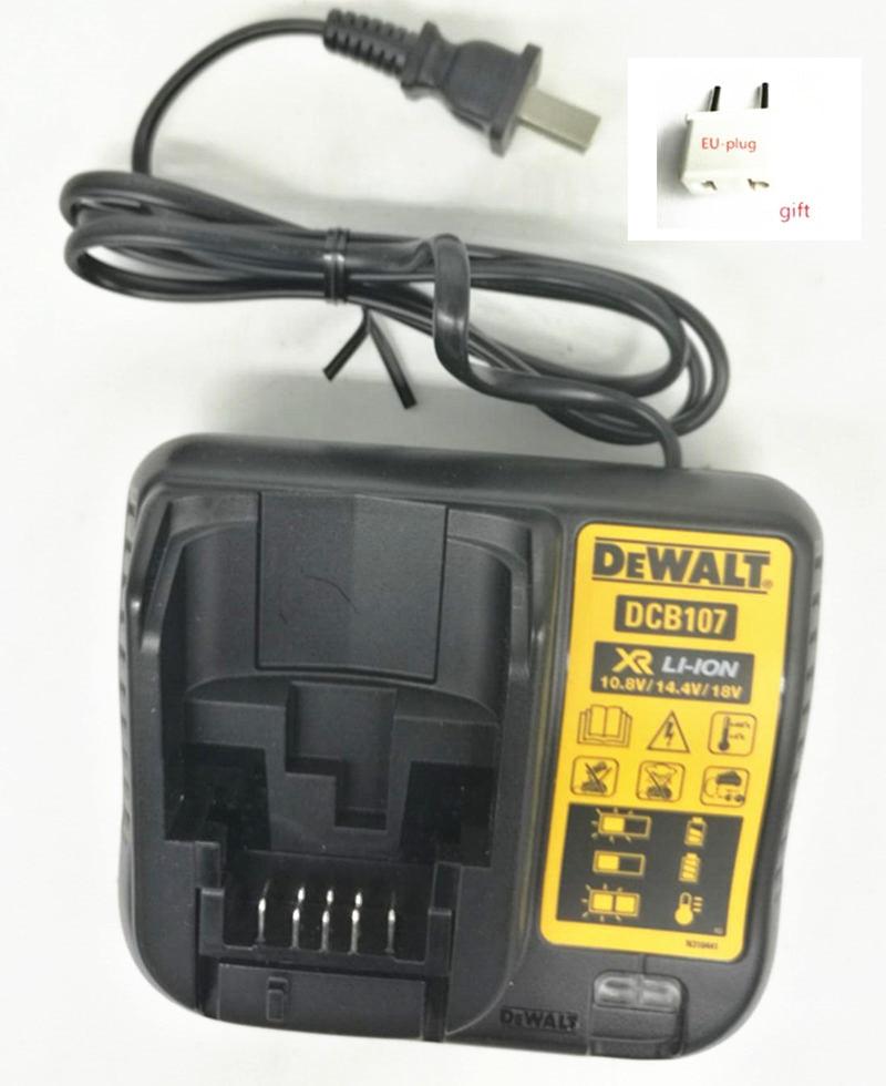 AC 220-240V Charger DCB107 For DEWALT DCD776 DCD771 DCD734 DCD716 DCD710 DCD701 DCD700 DCF805 DCD710S2