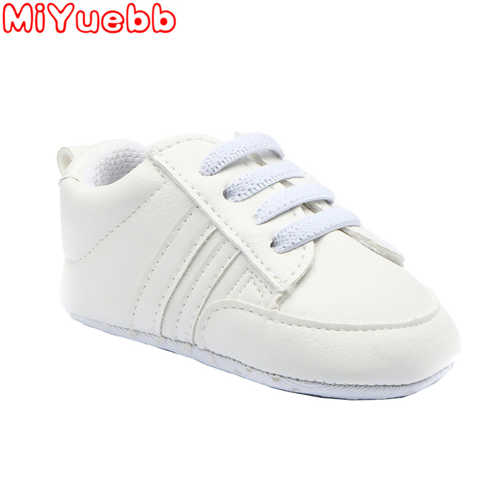 Solid Color Sneaker For Children Baby Flat Shoes Lacing Method Stripe Pattern Rubber Sole 2020 New Fashion Kids Shoe 0-24 Months