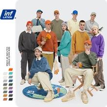 INFLATION Winter Mens Hip Hop Multi colour Hoodies Velvet Fabrics Fleece Sweatshirts 8 Solid Color Winter Men Sweatshirts 166W17